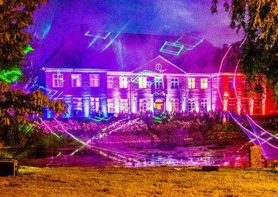 Feuerwerk und Lasershow im Herrenhaus Borghorst