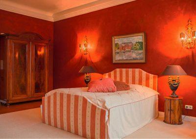 Herrenhaus Borghorst Grafenzimmer Bett